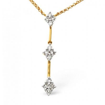 9K Gold 0.25ct Diamond Necklace, B1095